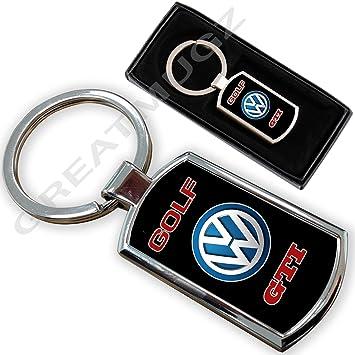 Cargifts Llavero de Metal Cromado para VW Golf GTI: Amazon ...