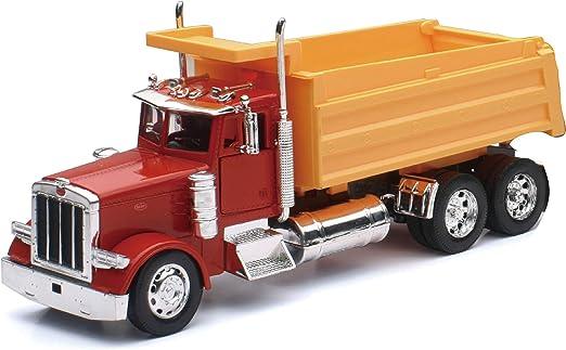 Kenworth W900 Double Dump Trailer Semi Truck Die-cast 1:43 New Ray 16 inch 108
