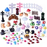Kuuqa 81 Pieces Miniature Fairy Garden Ornaments Kit for Fairy Garden Décor