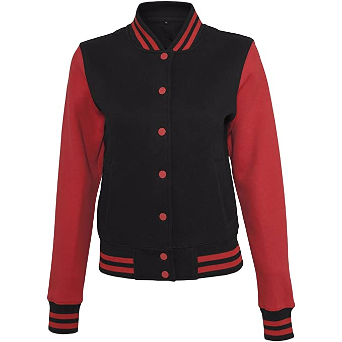 Build Your Brand Womens/Ladies Sweat College Jacket at Amazon Womens Coats Shop