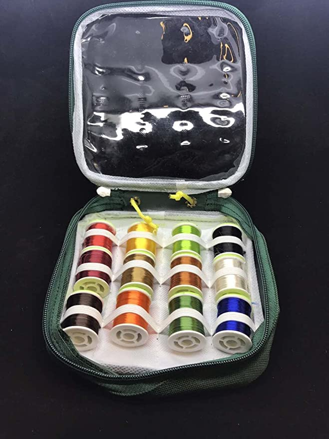 6 Farben in Kombinationen Große Spulen Fliegenbinden Zahnseide Floss