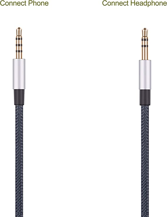 WH1000XM2 WH-CH700N Headphone Remote Volume Mic Compatible with iPhone iPod ipad Apple Devices NewFantasia Cable Compatible with Sony MDR1000X MDR-XB950BT WH1000XM3 MDRXB650BT