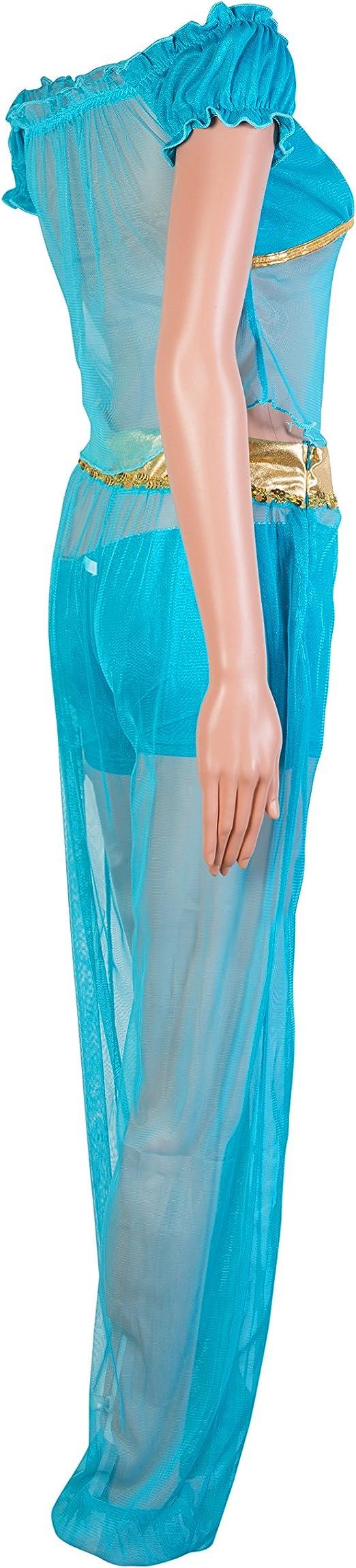Traje del vestido de Emmas Wardrobe Princesa árabe Fantasía Azul ...