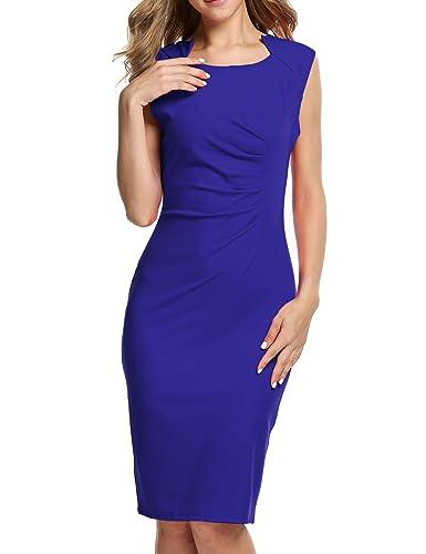 ANGVNS Stylish Women Casual Sleeveless High Waist Knee-length Party Dress
