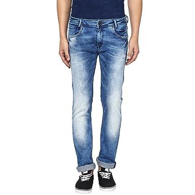 917262de0e20 Mufti Mens Mid Blue Low Rise Super Slim Fit Jeans (36)  Amazon.in ...