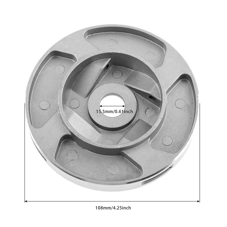 Hicello Aluminium Fadenkopf Rasentrimmer Kopf Spule f/ür Benzin Motorsense Brushcutter