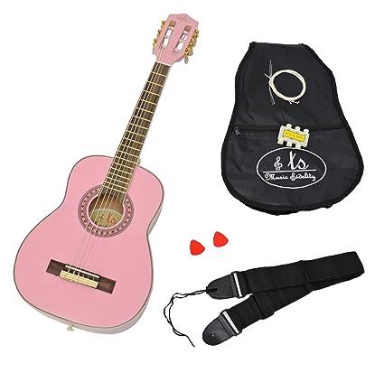 ts-ideen - Guitarra acústica infantil (1/4, para niños de 4