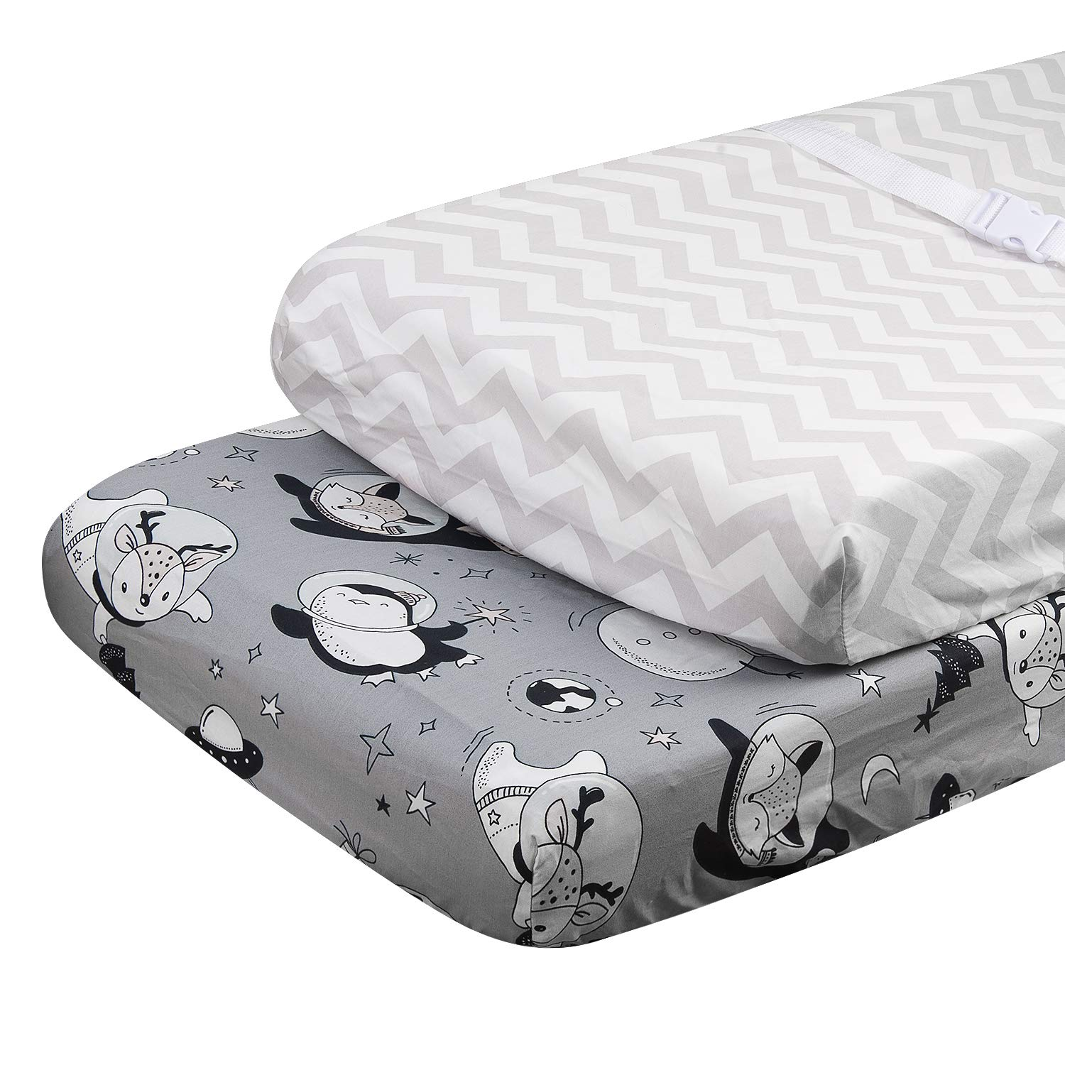 ALVABABY Cradle Mattress,100/% Organic Cotton,Soft and Light,Baby Changing Pad Cover for Boys and Girls