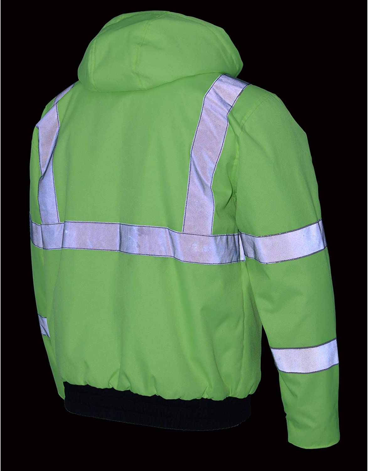 Small Milwaukee Leather MPM1773SET Mens High Viz Neon Green Textile Jacket with Heating Elements and Included Battery Pack