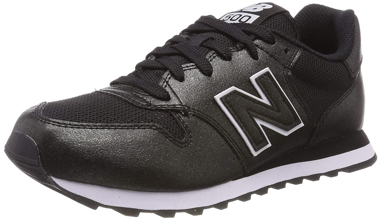 negro (negro negro Metallic Mbb) New Balance 500, Hauszapatos de Deporte para mujer