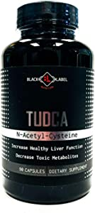 Black Label Nutrition TUDCA + N-Acetyl-Cysteine for Healthy Liver Support - 90 Capsules