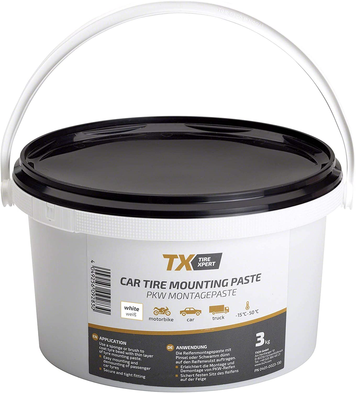 Tire Xpert Reifenmontagepaste Weiß 3kg Reifenmontierpaste Reifenmontagepaste 3kg Auto