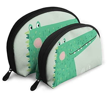 eb01a106e5 Image Unavailable. Image not available for. Color  Anonymous Guest Shell  Shape Cute Cartoon Alligator Travel Cosmetic Bags Toiletries ...