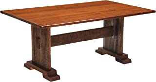 product image for Barnwood Harvest Dining Table - 5, 6, 7, 8 Foot with Antique Oak Top