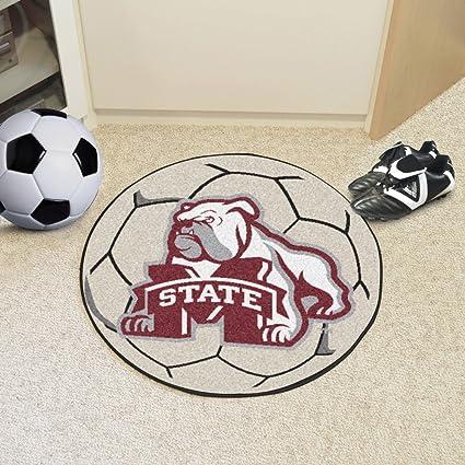Mississippi State University de balón de fútbol alfombra: Amazon ...