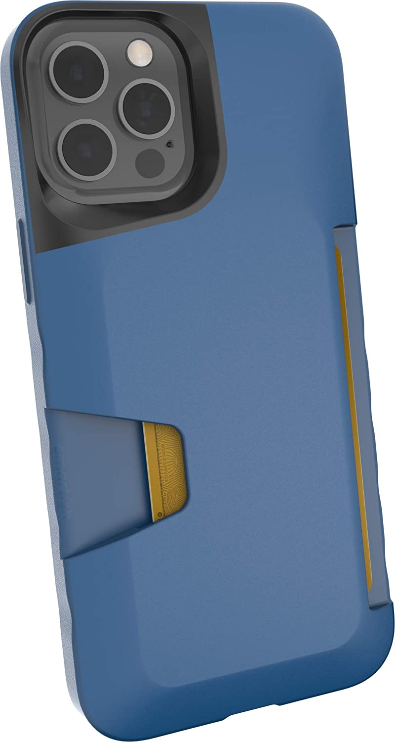 Smartish iPhone 12 Pro Max Wallet Case - Wallet Slayer Vol. 1 [Slim + Protective] Credit Card Holder (Silk) - Blues on The Green