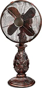 Oscillating Decorative Fan for Your Kitchen, Office, Bedroom - Cooling Home Decor, 3 Speeds with Tilting Head for Cooling Your Room Fast -Stylish, Quiet, Portable Fan (Orleans, Table)