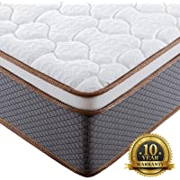 BedStory Bed Mattress in A Box, Luxury Hybrid Mattress with Individually Encased Spring Coils, Medium Firm Support