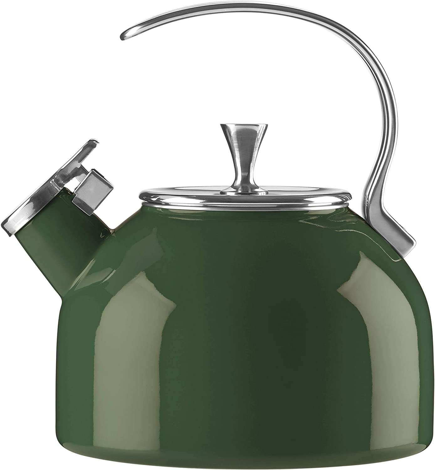 Kate Spade New York 889682 Kate Spade Kitchen Clover Kettle, 3.5 LB, Green