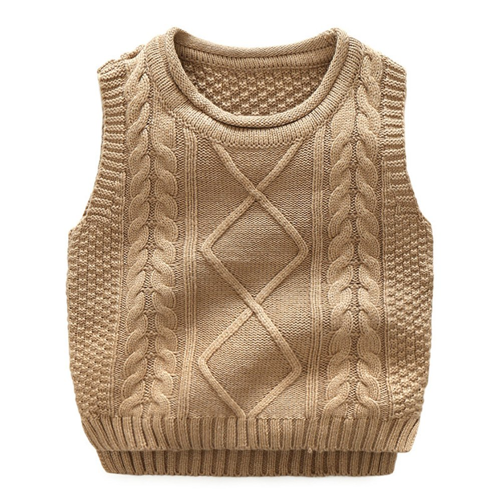 Anbaby Little Boy's Knit Sweater Vest Kids Round Neck Students Pullover Anbaby207