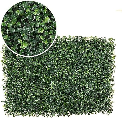 YNGJUEN Setos Artificiales de plástico Hierba Hoja Artificial Rollos de plástico Planta Pared Jardín Exterior Balcón Patio Trasero 40cm × 60cm (Color : C, Size : 40cm×60cm): Amazon.es: Hogar