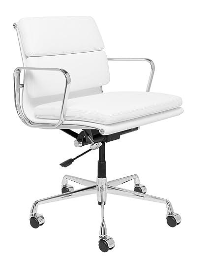 Laura Davidson Furniture SOHO Premier Soft Pad Management Chair (Soft Pad,  White)