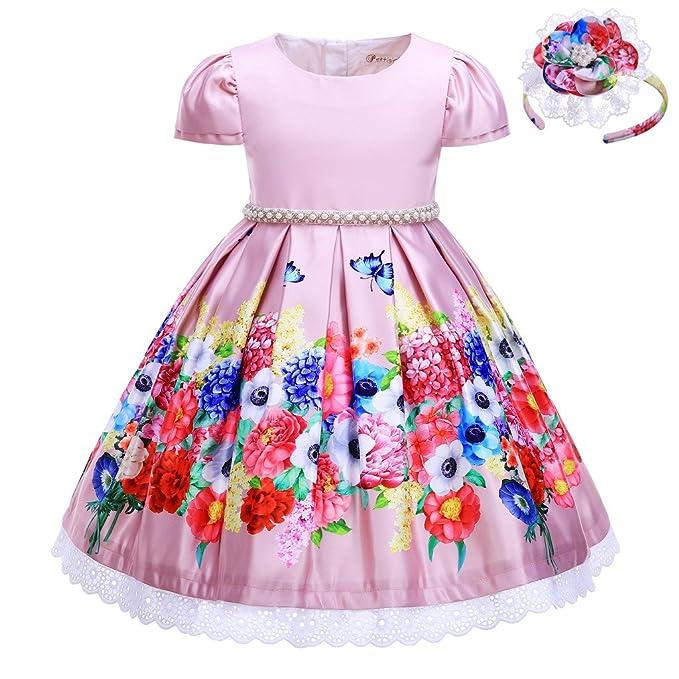 2a1fffced Pettigirl - Vestido - para niña Rosa 3 años: Amazon.es: Ropa y accesorios