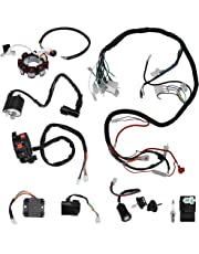 amazon wiring harnesses electrical automotive Mobile Home Makeovers plete electric wiring harness kit wire loom electrics stator coil cdi for atv quad 4 four