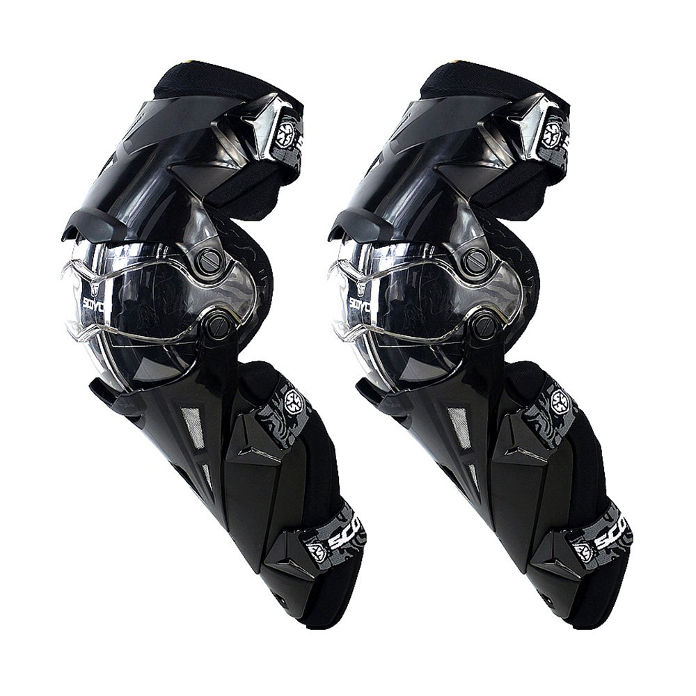 SCOYCO Motorcycle Knee Protector Guard Hard Collision Avoidance Off-Road Windproof for Outdoor Racing Cycling