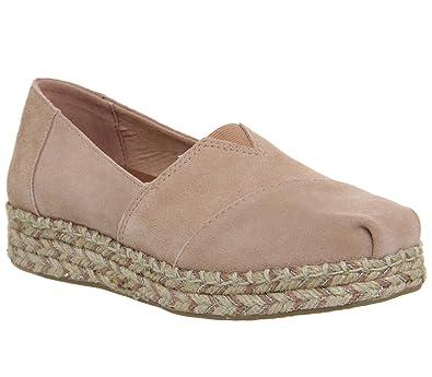 6ddc41d2e86 TOMS Platform Alpargata Bloom Suede  Amazon.fr  Chaussures et Sacs
