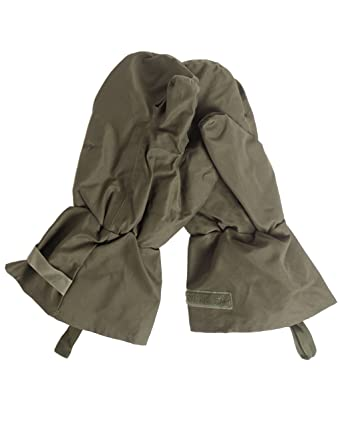 GENUINE British Army Issued Military Surplus Olive Green Cold Weather  Gore-tex Mitts With Trigger Finger GRADE 1
