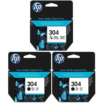 2 x Negro y 1 x HP Tricolor Cartuchos de Tinta para HP DeskJet ...