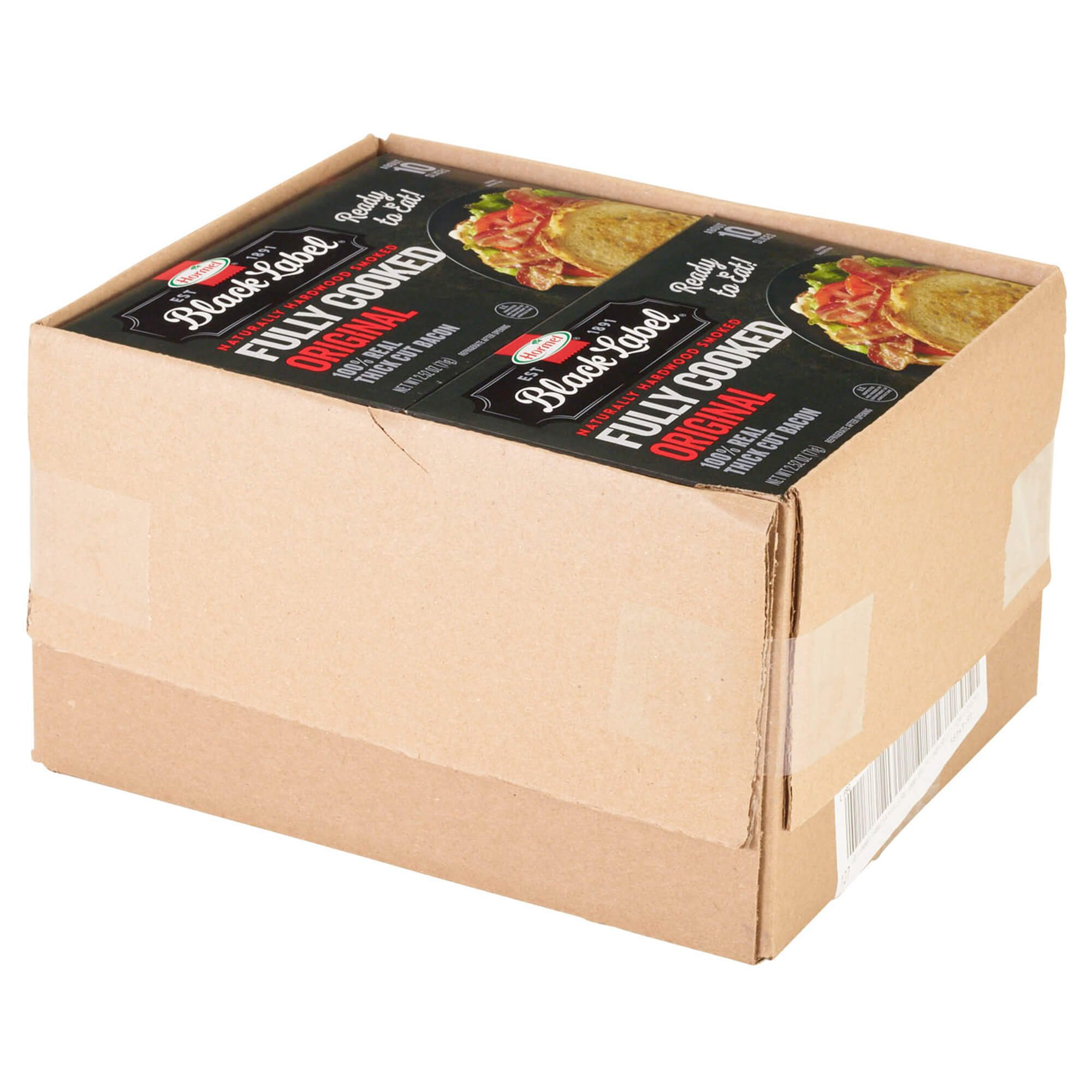 Hormel Black Label Fully Cooked Bacon, 2.52 Oz, Pack of 12