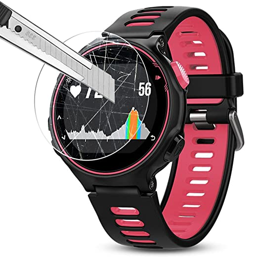 AFUNTA Films de Protection dEcran pour Garmin Forerunner 735XT Montre Connectée, 3 Paquets de Protecteur de Smartwatch en Verre Trempé Optique: Amazon.fr: ...