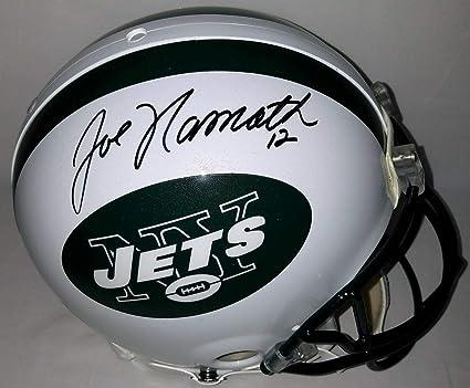 Joe Namath Autographed Signed Full Size Authentic Proline New York Jets  Helmet Steiner   Uda 486937173