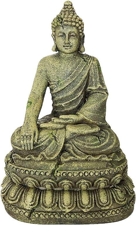 Amazon Com Slocme Aquarium Buddha Statue Decorations Aquarium Buddha Decor Ornament Fish Tank Meditating Buddha Statue Decoration Pet Supplies
