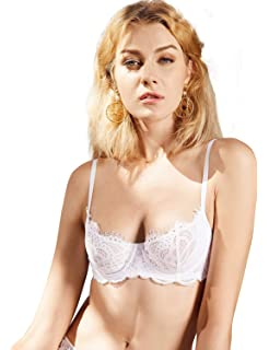 99ceef338b DOBREVA Women s Floral Lace Strapless Bra Lightly Lined Underwire ...