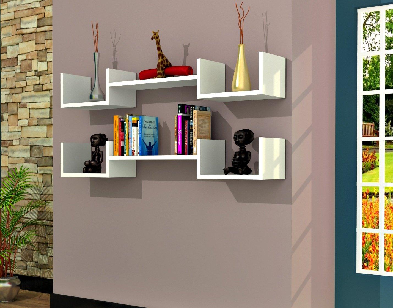 Mensole Da Parete Per Lettore Dvd : Life mensola da muro bianco mensola parete mensola libreria