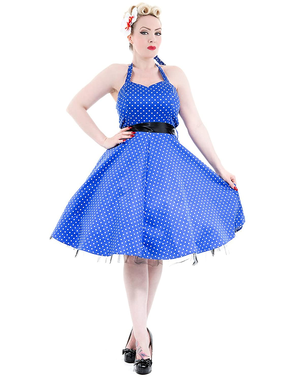 H&R London Women's Dress Blue-White S