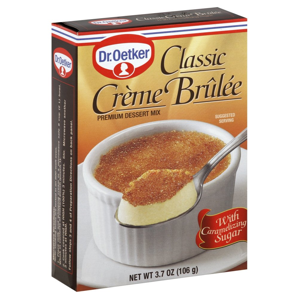 Dr. Oetker, Creme Brulee Mix, 3.7oz Box (Pack of 3) by Dr. Oetker [Foods] by Dr. Oetker