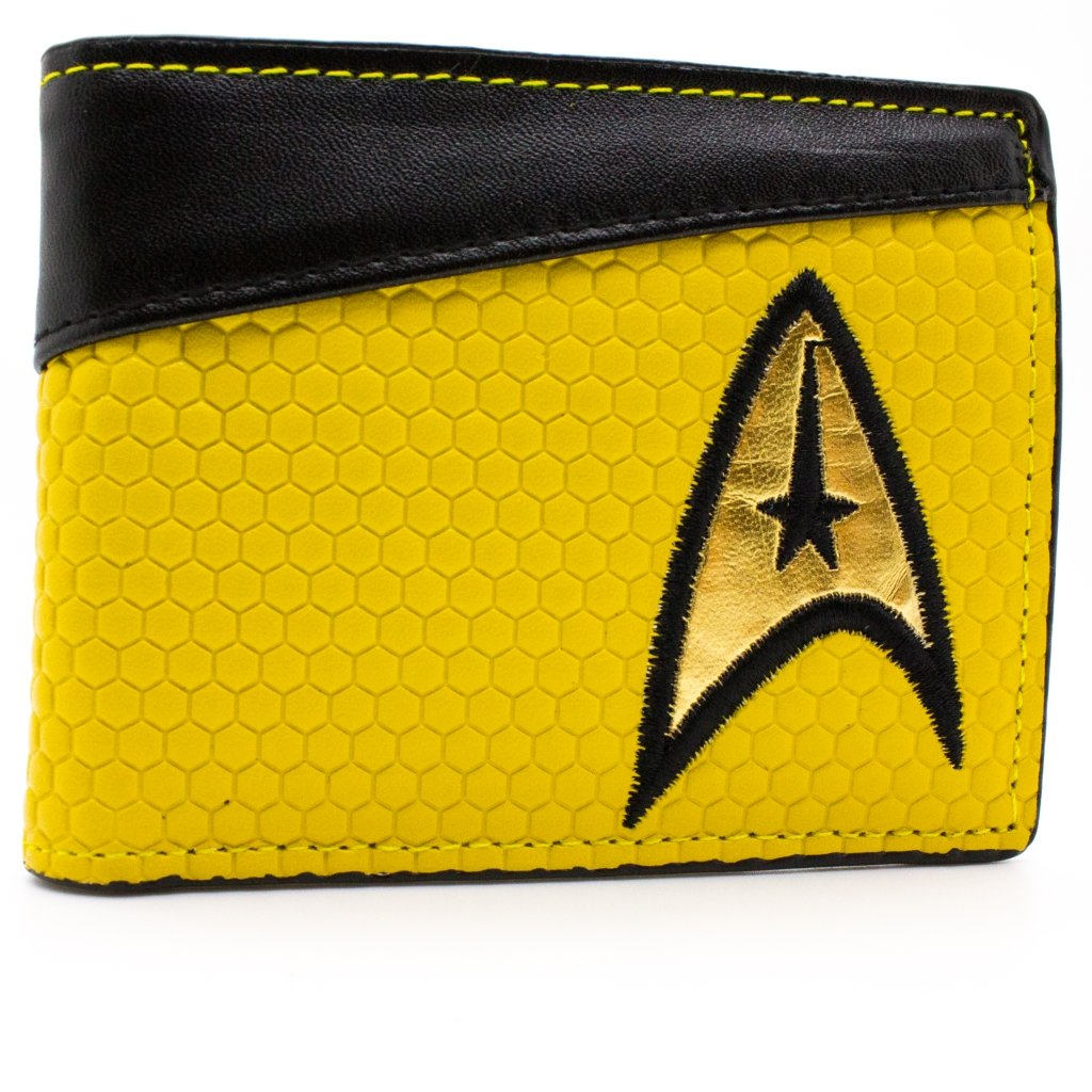 Star Trek Starship Enterprise Command Shirt Yellow Coin & Card Bi-Fold Wallet
