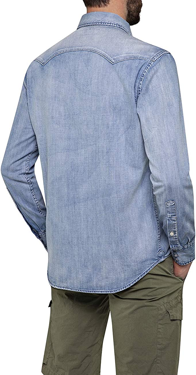 REPLAY Camicia in Jeans Uomo