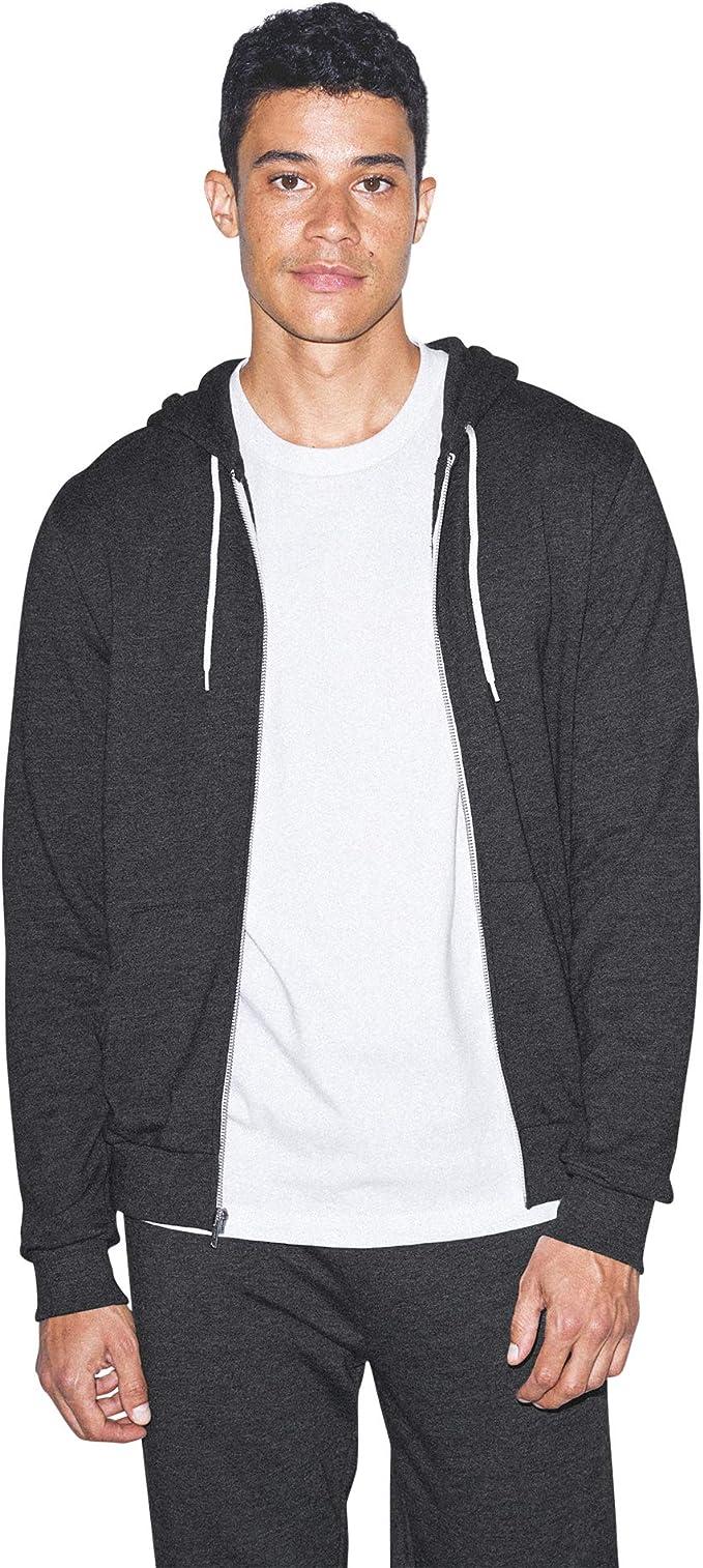 American Apparel Mens French Terry Long Sleeve Drawstring Hoodie Hooded Sweatshirt