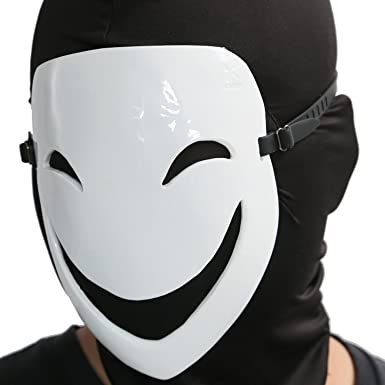 Halloween Masque Cosplay Déguisement Adulte Sourire Face Masque