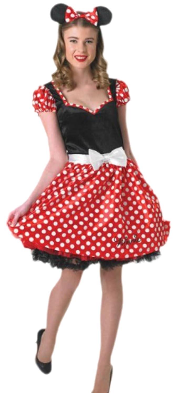 Karnevalsbud - Damen Minni Mouse Pünktchen Kostüm , L, Mehrfarbig