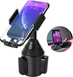 Car Cup Holder Phone Mount,Universal Smart Adjustable Automobile Cell Phone Mount for iPhone Xs/Max/X/XR/8/7/6 Plus Samsung Galaxy S10/S9/ S8 Note 9 Nexus Sony、HTC、Huawei、LG and All Smartphones