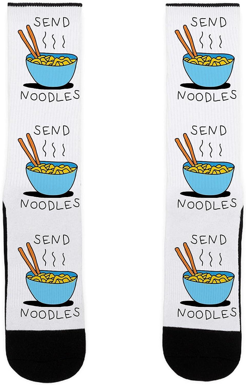 LookHUMAN Send Noodles US Size 7-13 Socks
