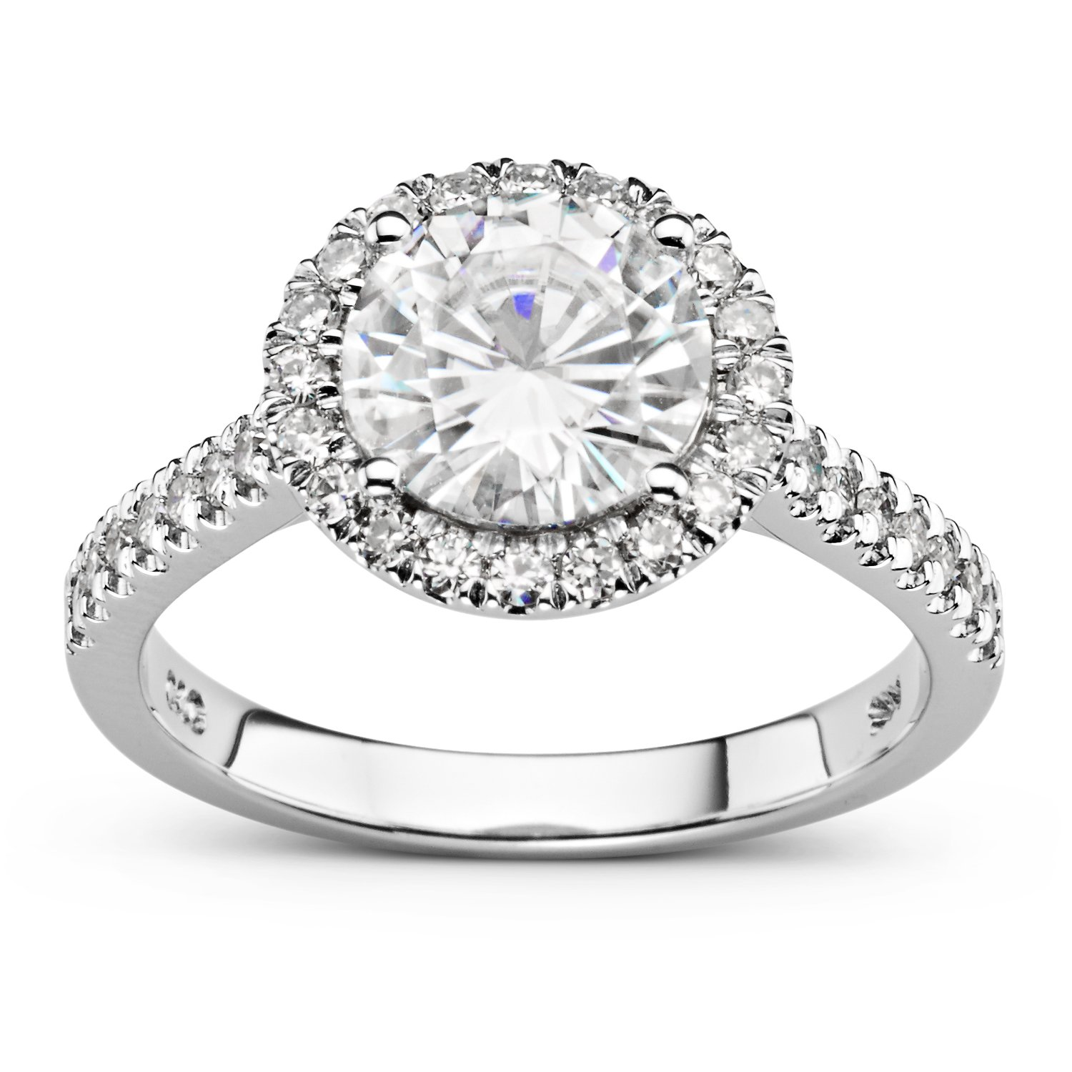 Forever Brilliant Round 8.0mm Moissanite Engagement Ring-size 6, 2.26cttw DEW By Charles & Colvard