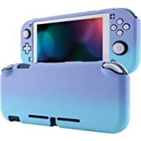 eXtremeRate PlayVital Customized Protective Grip Case for Nintendo Switch Lite, Gradient Violet Blue Hard Cover for…