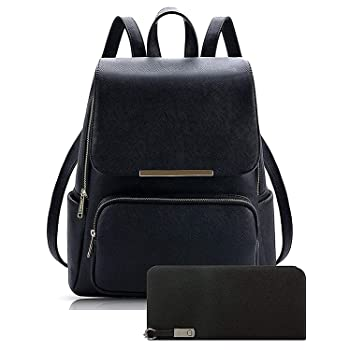 Pynk Fashion Stylish College Backpack & Clutch Combo